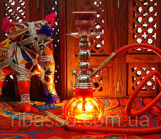 9010044 Кальян Китай со стеклянной колбой Красный