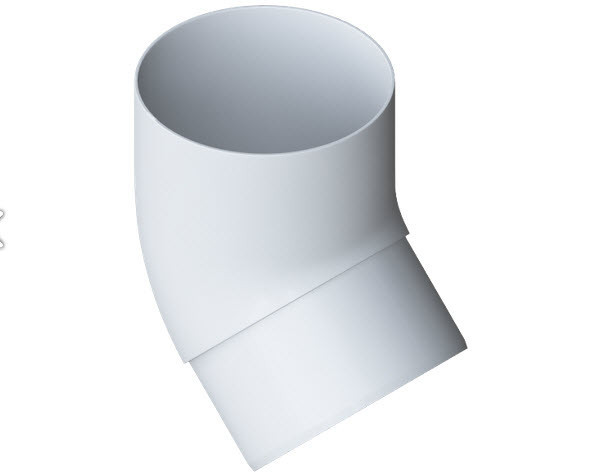 Колено трубы 45° Альта-Профиль белое