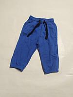 Синие спортивные штаны с начесом IDEXE р.74см.