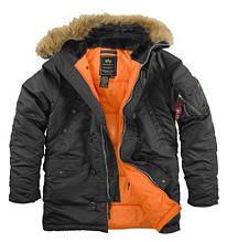N-3B slim fit alpha industries Black/Orange