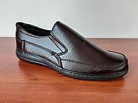 Чоловічі туфлі коричневі класичні модельні (код 167), фото 1