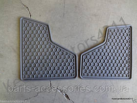 Резиновые коврики к Mercedes GL-class оригинал X164 X 164 серые на 3 ряд новые