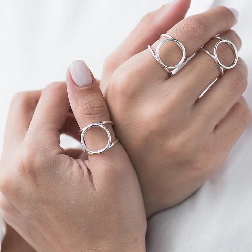"""Серебряное кольцо """"Круговорот"""""""