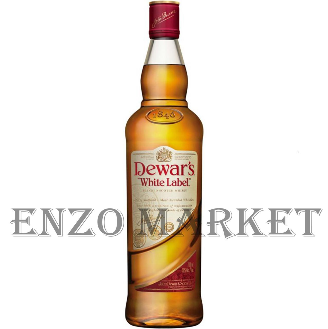 Виски Dewar's White Label (Дюарс Вайт Лэйбл) 40%, 1 литр