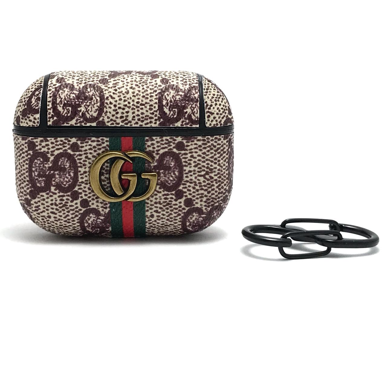 Кожаный чехол Gucci Classic для наушников AirPods Pro.