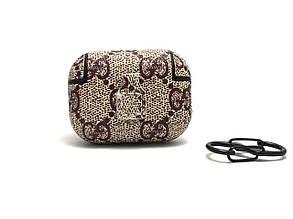 Кожаный чехол Gucci Classic для наушников AirPods Pro., фото 2