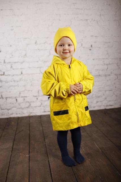 Куртка-рюкзак (дождевик) с шапочкой Пчелка (444)
