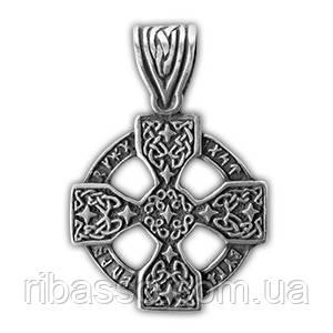 """0220019 71501 Амулет защитный нордический """"Рунический крест"""" материал - олово"""