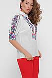 Цветы вышивка блуза Лисанна к/р, фото 3
