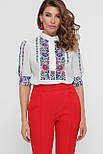 Цветы вышивка блуза Лисанна к/р, фото 4