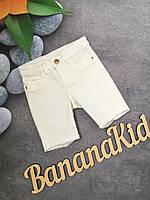 Детские джинсовые шорты для девочки 5-6 лет рост 116 см. фирмы H&M белого цвета
