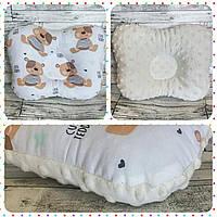 Двухсторонняя подушка ортопедическая для новорожденного бабочка Плюш Минки