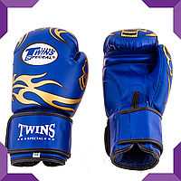 Боксерские перчатки Twins, PVC, 12 oz, Синий