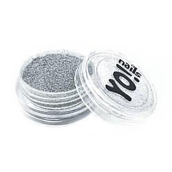 Зеркальный пигмент для ногтей, серебро