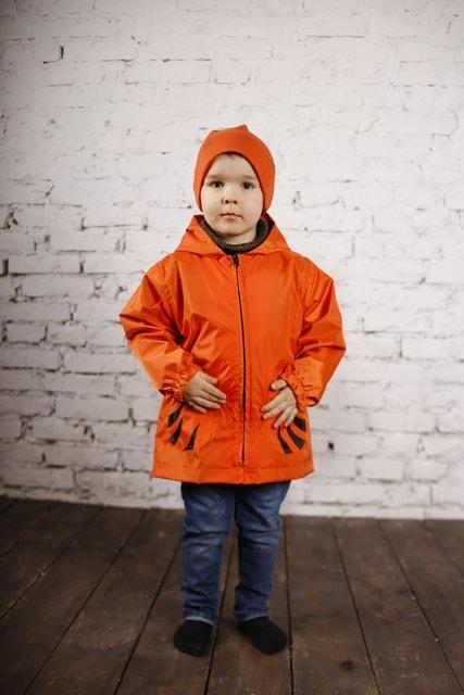 """Куртка-рюкзак (дощовик) з шапочкою """"Тигреня"""""""