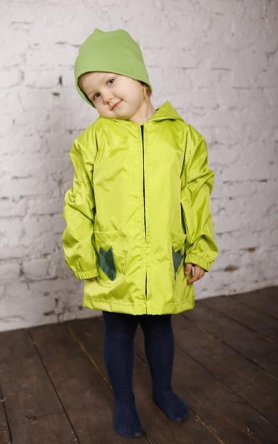 Куртка-рюкзак (дождевик) с шапочкой Лягушонок (449)
