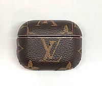 Чехол Louis Vuitton AirPods Pro - кожаный, коричневый, с карабином