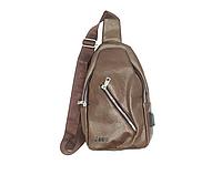 Мужская сумка через плечо Jeep 1302 Brown (2_008147)