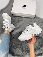 Женские кроссовки в стиле Fila Disruptor 2, белые