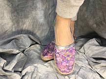 Слипоны женские Briz фиолетовые ассорти 36-38