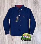 Нарядный и стильный костюм для мальчика 4 года: темно-синяя рубашка Gucci и бордовые брюки Polo, фото 3