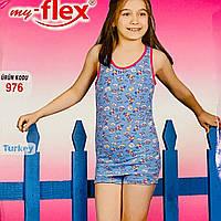 Пижама для девочки майка с шортиками 100% хлопок my-Flex