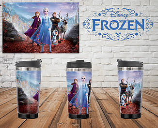 Термостакан Холодное сердце герои / Frozen