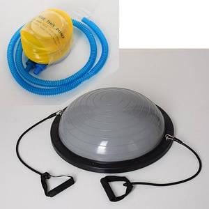 Балансировочная платформа для фитнеса полусфера MS 2609-2 серая