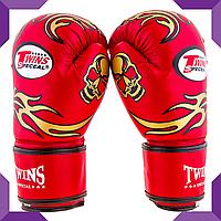 Боксерские перчатки Twins, PVC, 8oz ,Красный