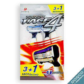 Одноразові станки для гоління DORCO PACE 4 3+1 Free (FRA100-4p) 01245