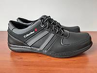Чоловічі кросівки чорні зручні прошиті ( код 101 ), фото 1