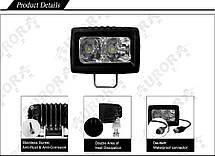 Дополнительная светодиодная фара ALO-L-2 10W Сree 9-36V  IP69  1100 Люмен, Дальний свет , фото 3