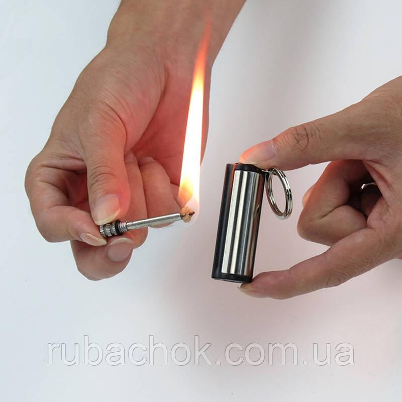 Вечная спичка зажигалка огниво бензиновая керосиновая походная брелок