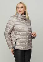 Модная современная женская стеганая А-образная куртка весна/осень большие размеры (48,50,52,54,56,58,60,62,64)