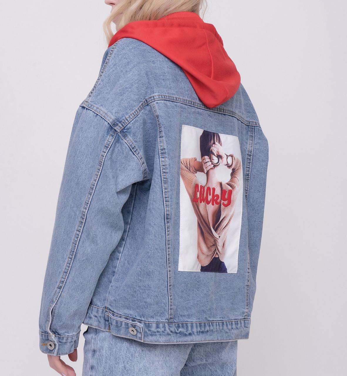 Джинсовая куртка Одежда для модниц