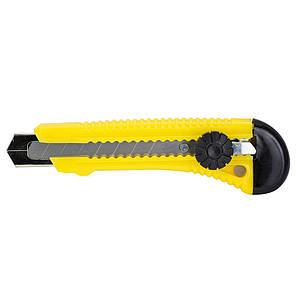 Нож строительный (пластиковый корпус) лезвие 18мм винтовой замок Sigma (8211141), фото 2