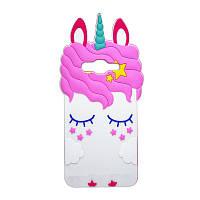 Чехол 3D Toy для Samsung Galaxy A7 2015 A700 Бампер резиновый Единорог White