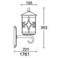 Світильник бра вуличний 1761 CORDOBA III