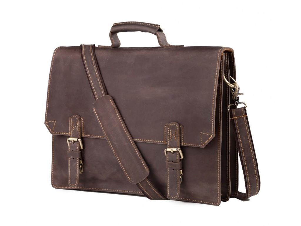 Кожаный мужской портфель TIDING BAG GА2095