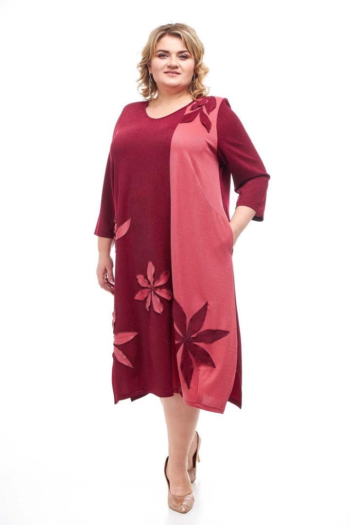 Красивое женское платье Рукодельница 5 цветов (62-72)