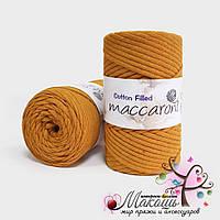 Хлопковый шнур Maccaroni Cotton Filled 5 мм, №17036, горчица