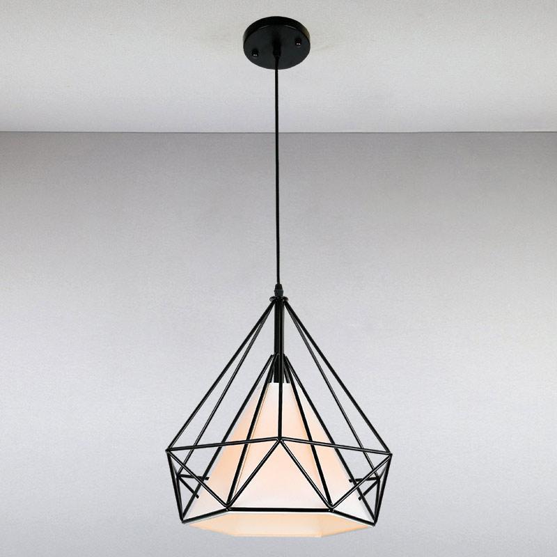 Люстра подвесная на одну  лампу LS-814584A/1BK  черная