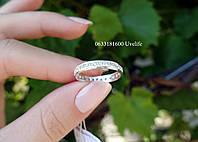Кольцо Дорожка с камнями из серебра, фото 1
