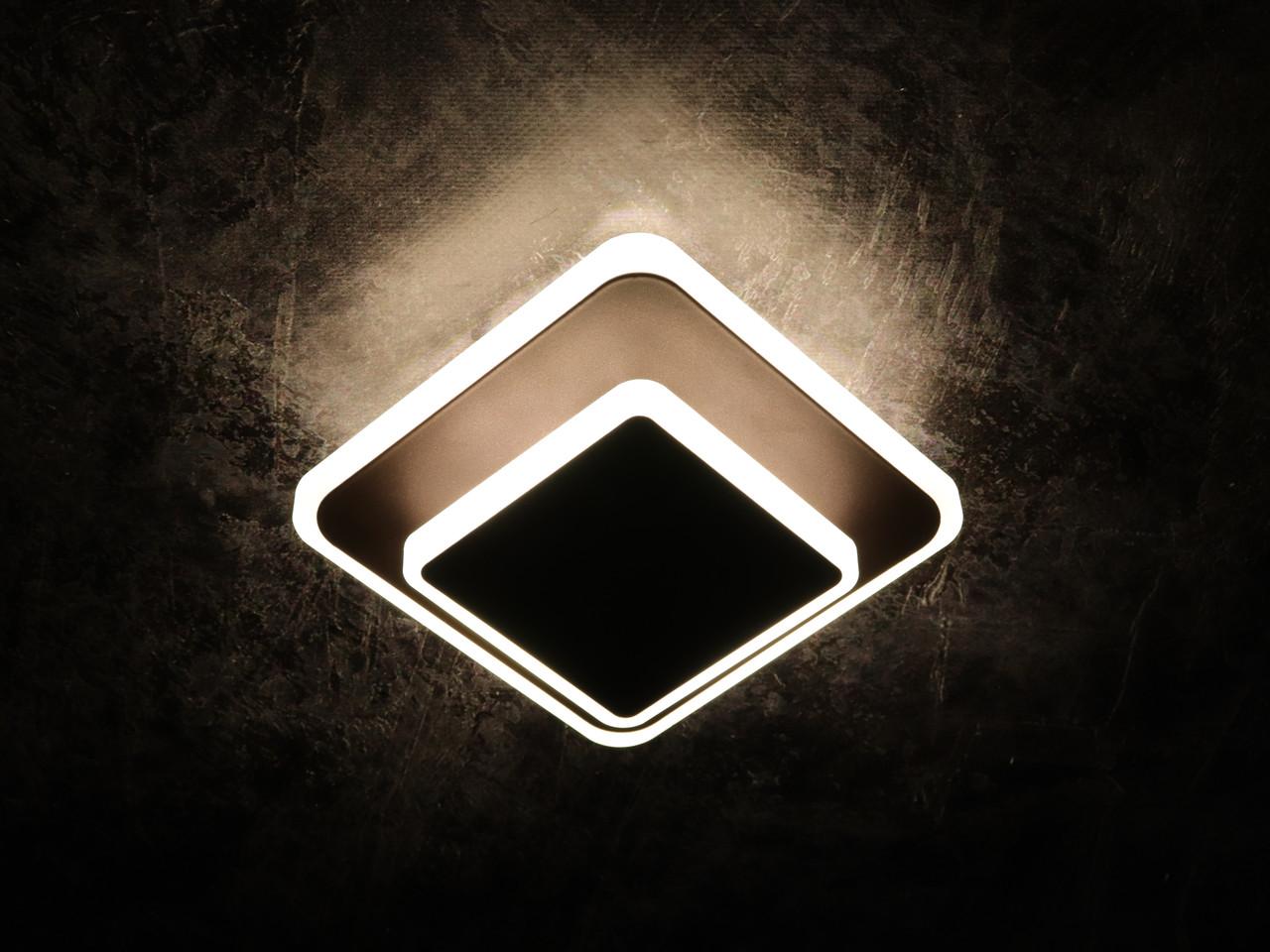 Светильник потолочный LED 8662/1S-cf-150+100 Коричневый 6х15х15 см.