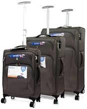 Набір валіз IT Luggage Satin на 35 68 98 л, сірі