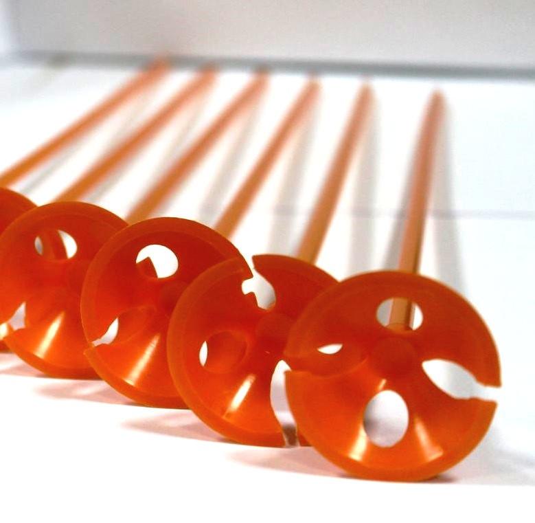 Палочка держатель для воздушного шарика оранжевая
