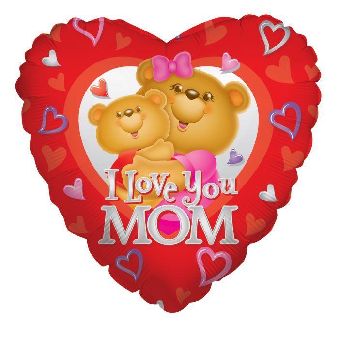 """К 18"""" Love Mom Bears Мама медведица с любовью"""