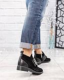 Ботинки  с металлическим декором на застежке- липучке замша, фото 2