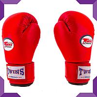 Боксерские перчатки Twins, PVC, 4 oz , Красный