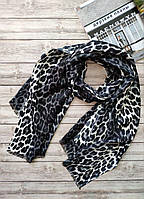 Женский шарф Лео серый
